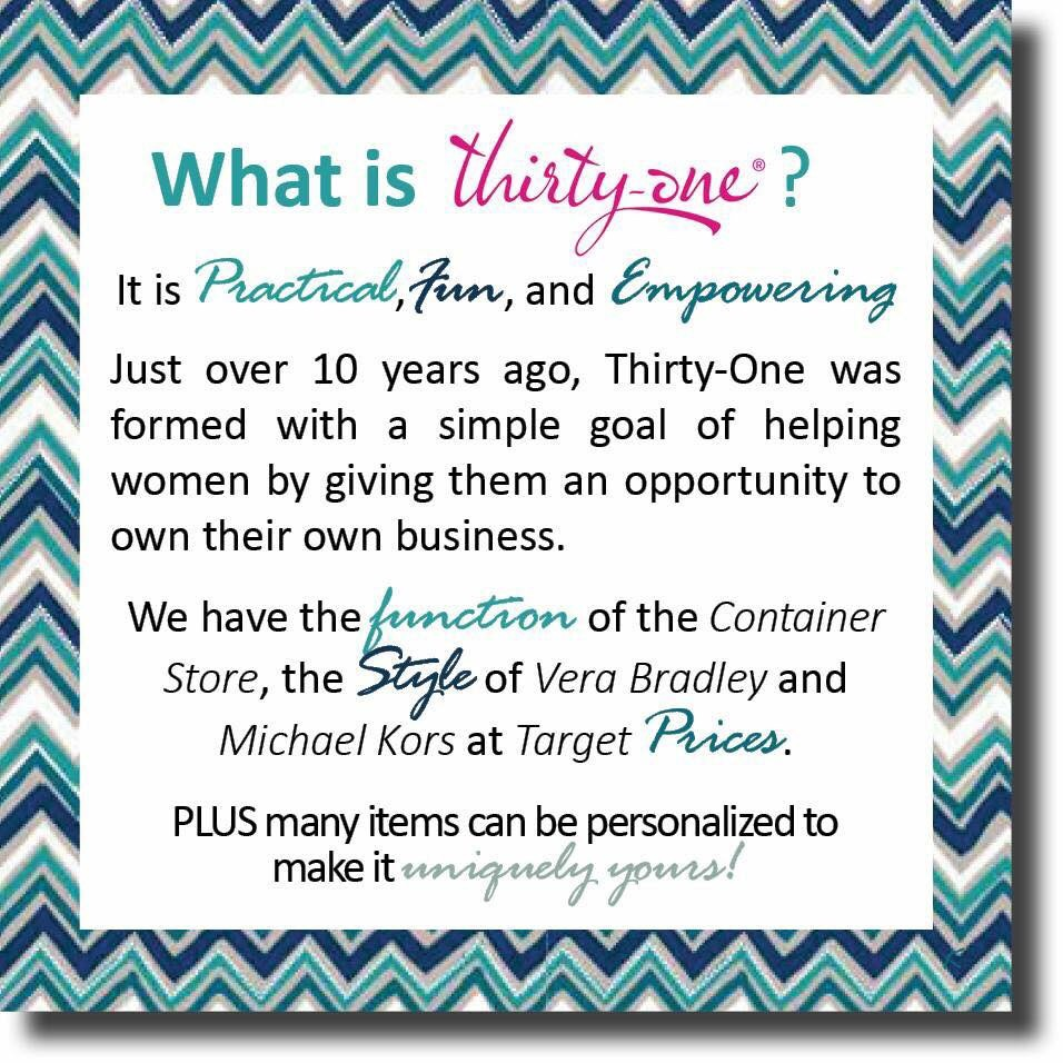 Thirty One Gifts Independent Consultant - The List