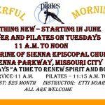 Prayer and Pilates Morning