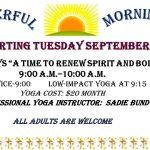 Prayerful Mornings – Prayer and Yoga